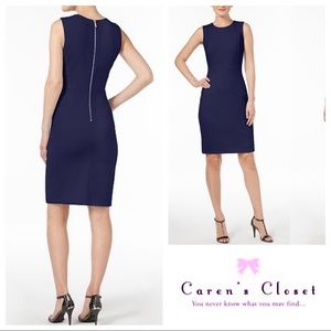 Calvin Klein Navy Stretch Dress w/.Back Zipper